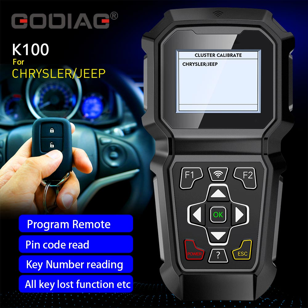 GODIAG K100 Chrysler/Jeep Hand-held Key Programmer