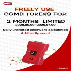 CGDI MB Free Tokens for 2 Months No Limitation (May 9th to Jul 9th) !!!